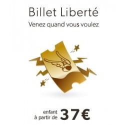 Billet Liberté Enfant Saison 2018
