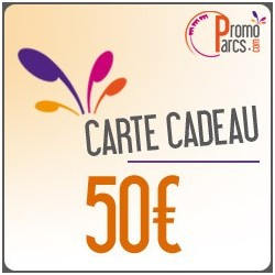 Carte Cadeaux PromoParcs 50 €