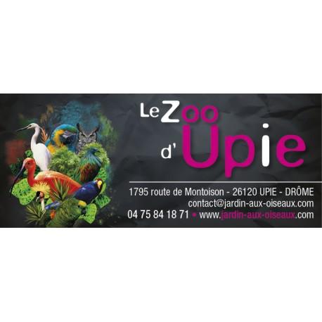 E-billet 1 jr enfant Zoo d'upie Saison 2018- dpt 26