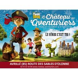 E-billet 1jour enfant (de 3 à 11 ans )- Le chateau des Aventuriers (dpt 85) Saison 2018