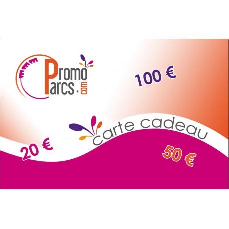 Carte Cadeaux Electronique PromoParcs 20 € - Envoi par mail