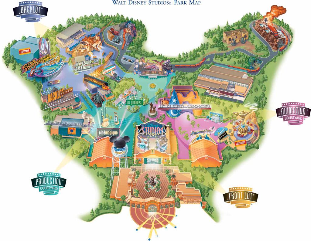 Plan Walt Disney Studios