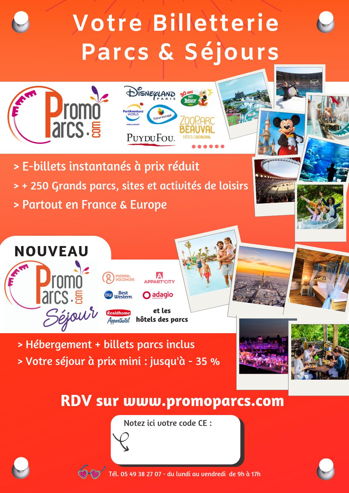 Affiche parcs et séjours PromoParcs