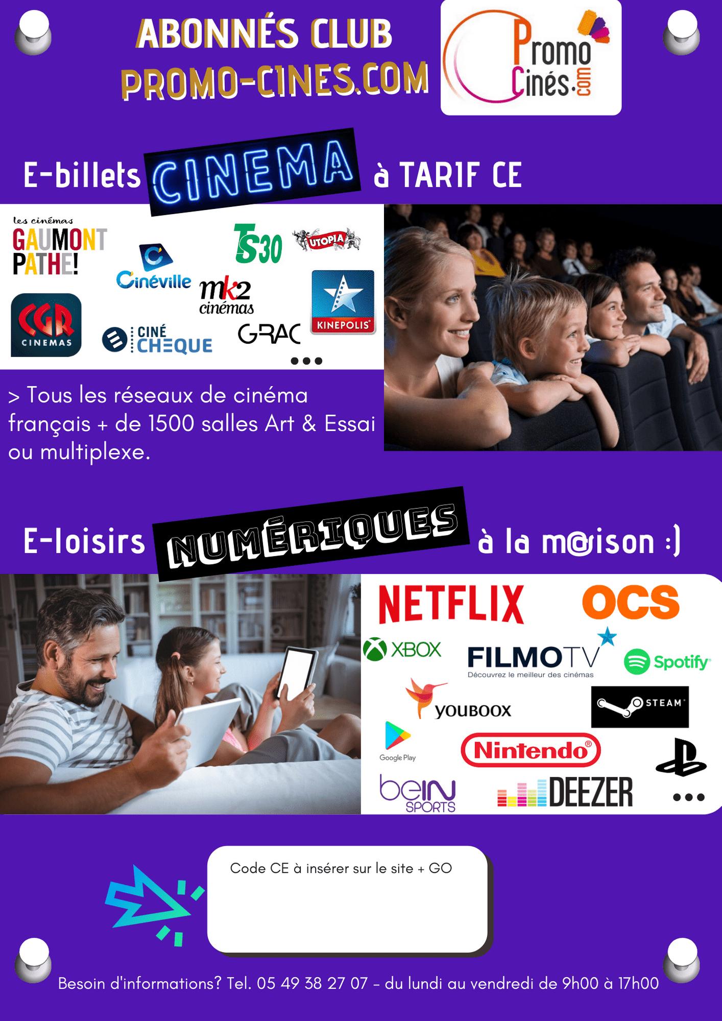 Affiche Club CSE ciné eloisirs