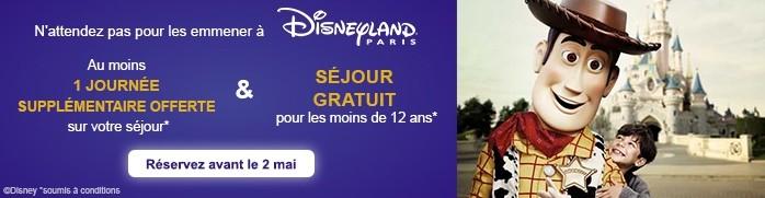 Disneyland Paris - sejour gratuit pour les moins de 12 ans