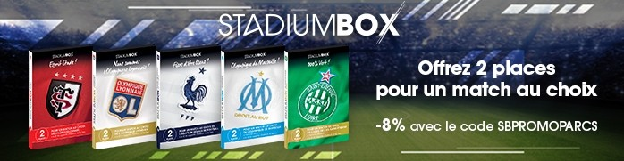 Stadiumbox - coffret cadeaux moins cher