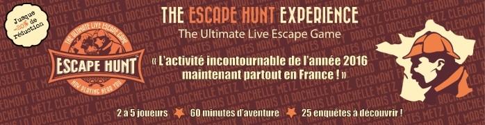 EscapeHunt CE moins chers